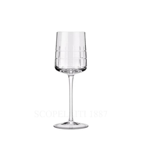 christofle white wine crystal glass graphik