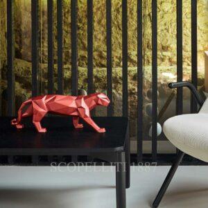 lladro panther metallic red
