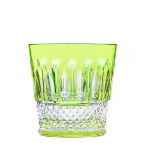 saint louis crystal tommy tumbler light green