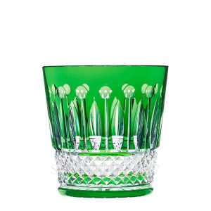 saint louis green crystal tumbler