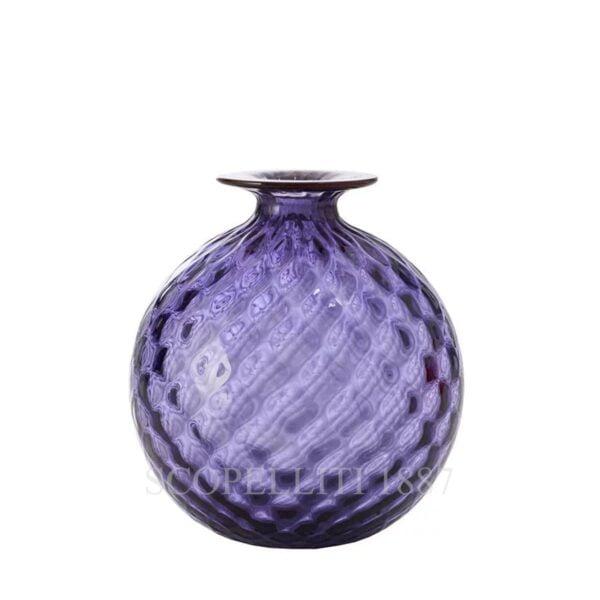 venini monofiore balloton vase small amethyst